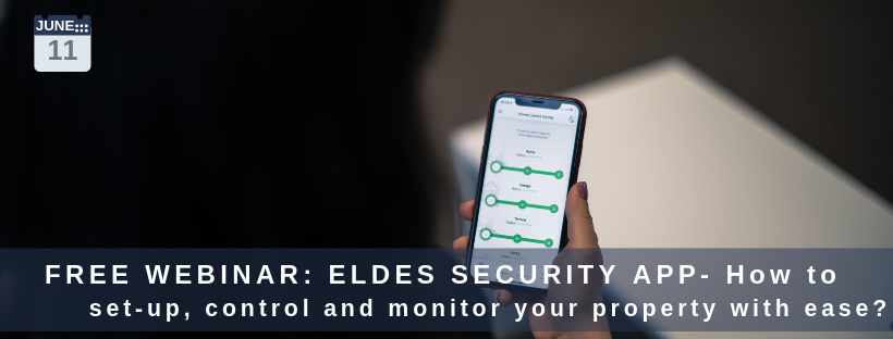 Eldes Security App set-up, control and monitoring