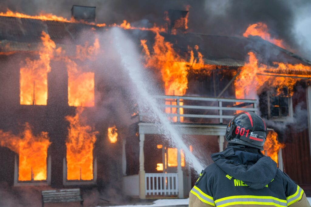 how to secure home from fire